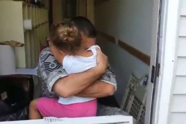 U.S. Airman Captain Surprises His Daughter at School