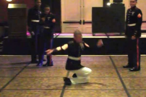 military dance off