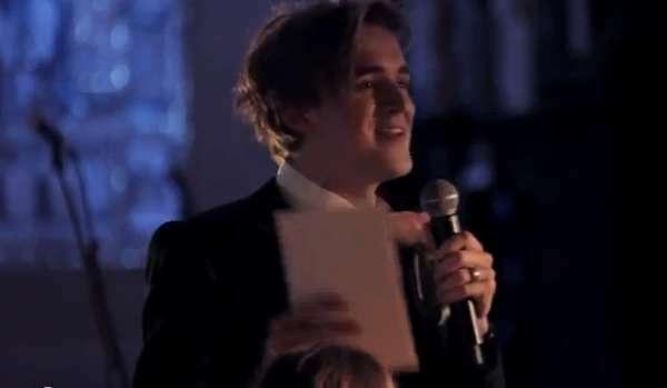 Groom Sings Wedding Speech