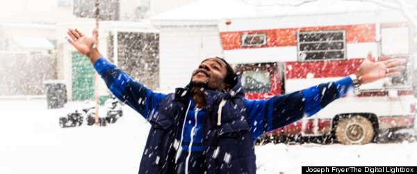 Nigerian Man, Witnessed His First Snowfall... And His Reaction Is Incredible