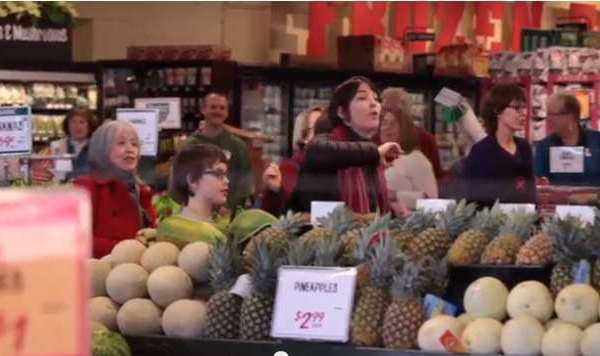 AWESOME: Market Flash Mob Raises $30K For Those In Need