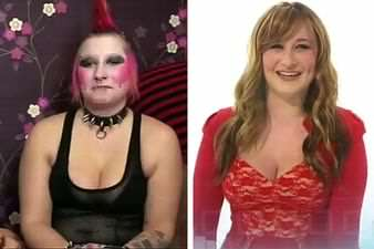 Scary Punk Rocker Transformed Into A Beautiful Sweet Lady
