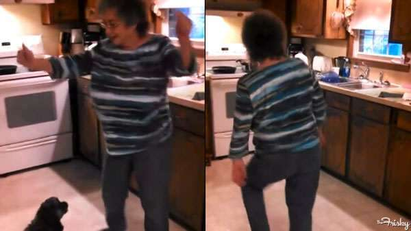Grandma Dancing To 'Ice, Ice Baby'