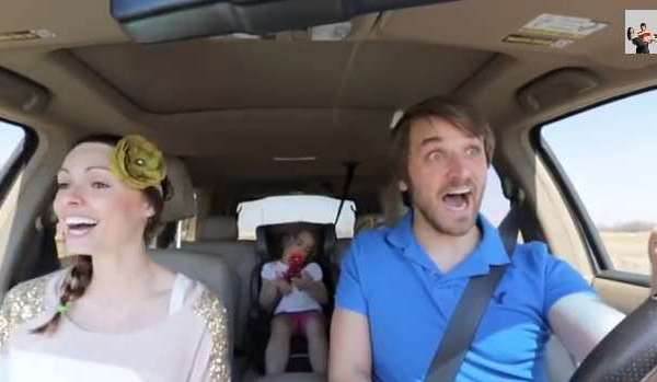 Adorable Parents Perfectly Lip-Sync Song From Disney's Frozen