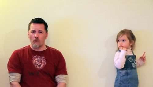 This Dad Has An Incredible Voice; But Just Wait Until His Daughter Starts to Sing!