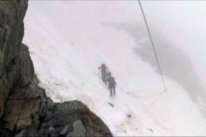 Family Escapes Avalanche In the Corridor Of Death