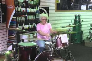 Grandma Walks Into A Drum Shop And Starts Playing