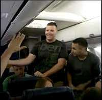 "US Marine Sings ""Home"" By Michael Buble On An Airplane Going Home And Has The Entire Plane Nearly In Tears"