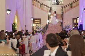 A Woman's Father Died The Day Before Wedding But A Surprise Guest Walks Down The Aisle With Her