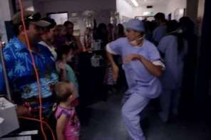 Dancers Entertain For Children In A Cancer Hospital