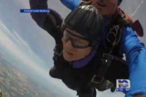 90 Year Old Granny Goes Skydiving