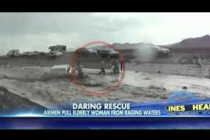 Airmen Rescue People In Flash Flood: Caught ON Video