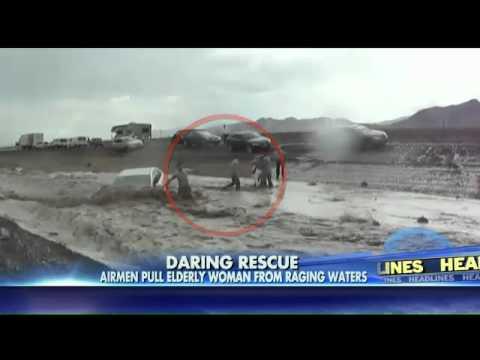 airmen save Elderly Woman