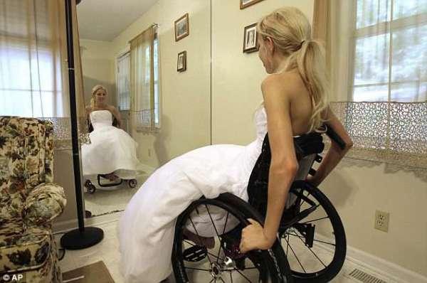 paralyzed bride