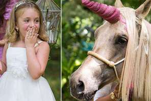 A Girl Wanted To See A Unicorn And Make A Wish Foundation Made It Possible
