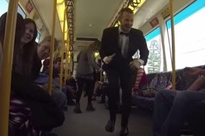 A Man In Australia Starts A Dance Party On A Train To Bring A Little Cheer To Everyone