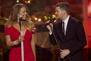 "Michael Buble And Mariah Carey Sing A Duet Of ""All I Want For Christmas"""