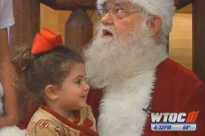 Little Girl Sits On Santa's Lap And Asks For A Miracle Which He Grants