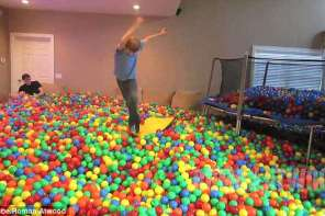 Father Fills His Entire House With Plastic Balls