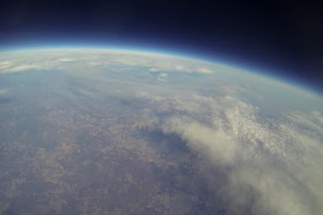 Weather Balloon View Of Earth Near Space