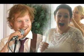 Ed Sheeran Surprises Wedding Couple At Their Wedding