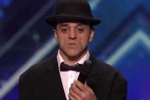 A Man Wins Over The Judges With An Amazing Charlie Chaplin Style Ladder Routine