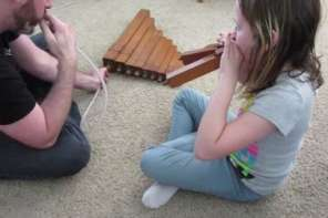 Father And Daughter Make Music With Their House