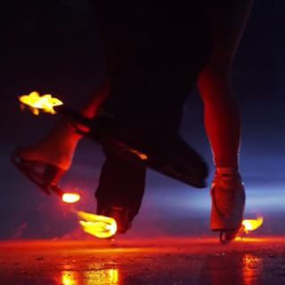 ice skating on fire