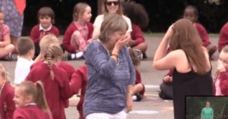 retiring teacher flash mob