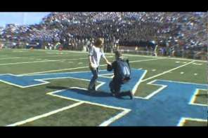 Air Force Cadet Parachutes Into Stadium To Propose To GirlFriend