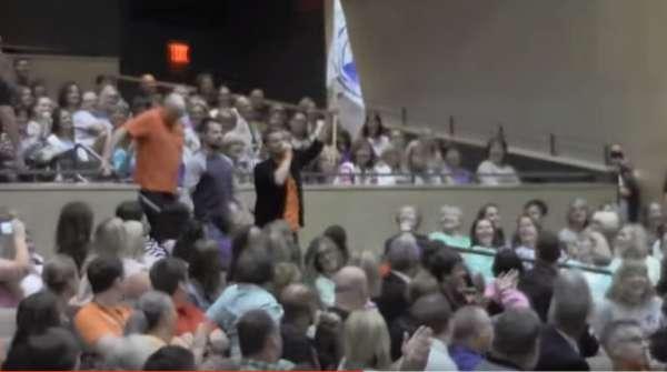 auditorium flash mob