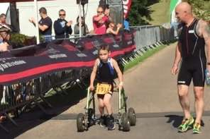 Boy With Cerebral Palsy Completes Triathalon
