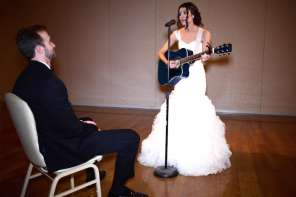 "Bride's Wedding Surprise To Groom Is A Special Performance of ""Grow Old With You"""