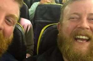 Man Meets His Doppelganger On Plane