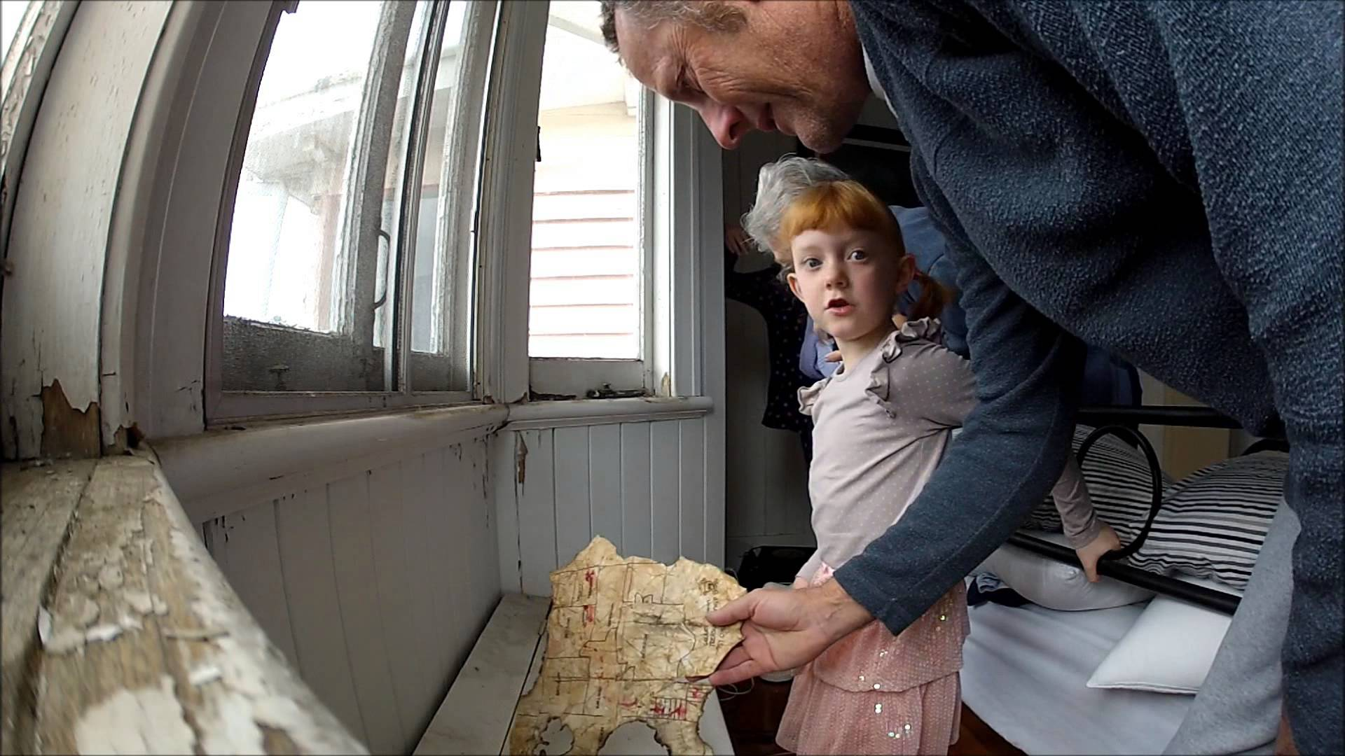 Dad Creates A Treasure Hunt For His Daughter Which Employs A Secret Room And A Treasure Map