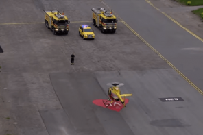 Epic Proposal: Firefighter Proposes To Helicopter Pilot