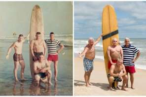 Four Marine Veterans Recreate A 50 Year Old Photo