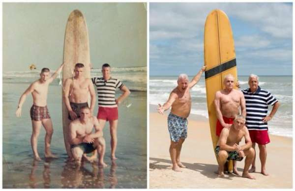marines recreate a 50 year old photo