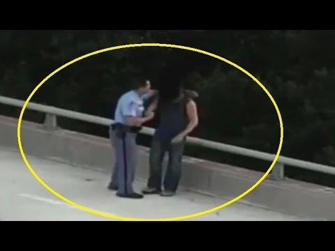 police hug