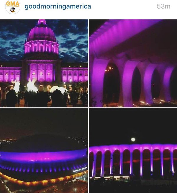 Purple Tributes Pop Up All over the world To Honor Prince