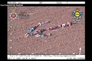 Children Form A Human Arrow To Help Police Catch Escaping Thieves