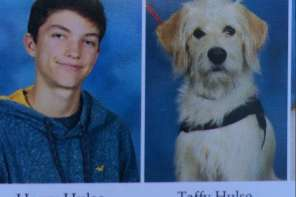 This Service Dog Got In The High School Year Book