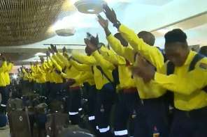 African Firefighters Arrive In Canada And Break Out In Song