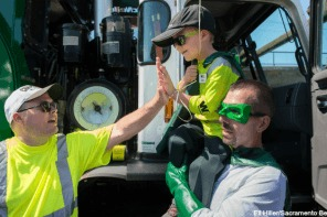 Boy Is Granted Wish To Be Garbage Collector For A Day