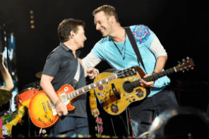 Michael J. Fox And Coldplay Perform A Song From Back To The Future