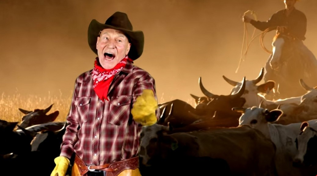 Patrick Stewart Sings The Cowboy Classics In This Hilarious Parody