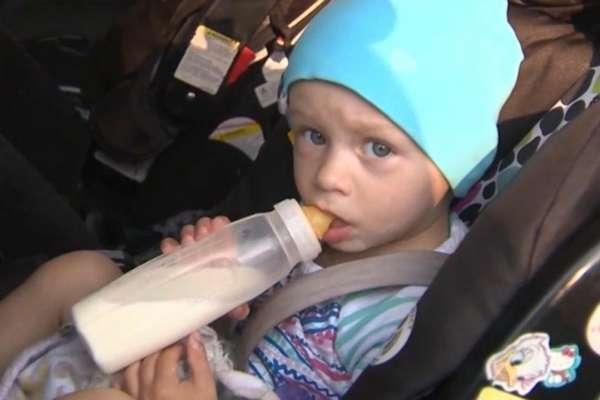 toddler gets surprise police escort