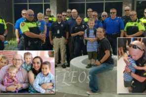 Police Escort Siblings Of Fallen Officer On First Day To School