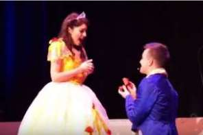 Beauty And The Beast Surprise Proposal