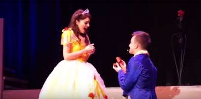 beauty-and-the-beast-surprise-proposal